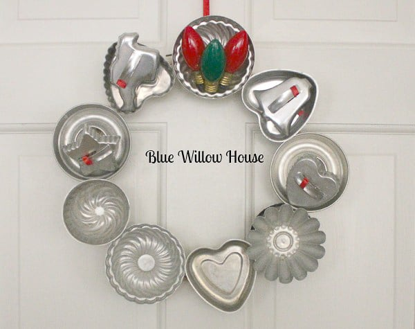 repurposed tins wreath