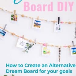 Home decor garland decorated with inspiring images