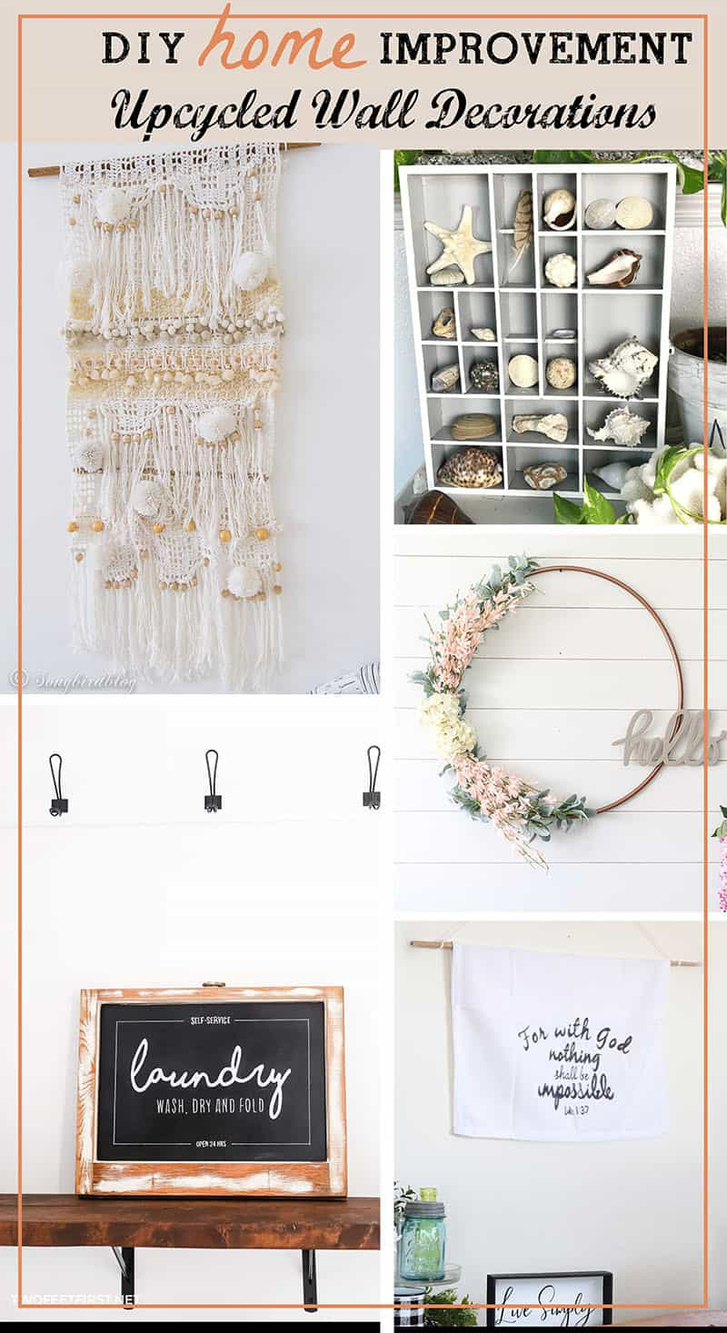 Upcycled Wall Decoration Ideas - Songbird