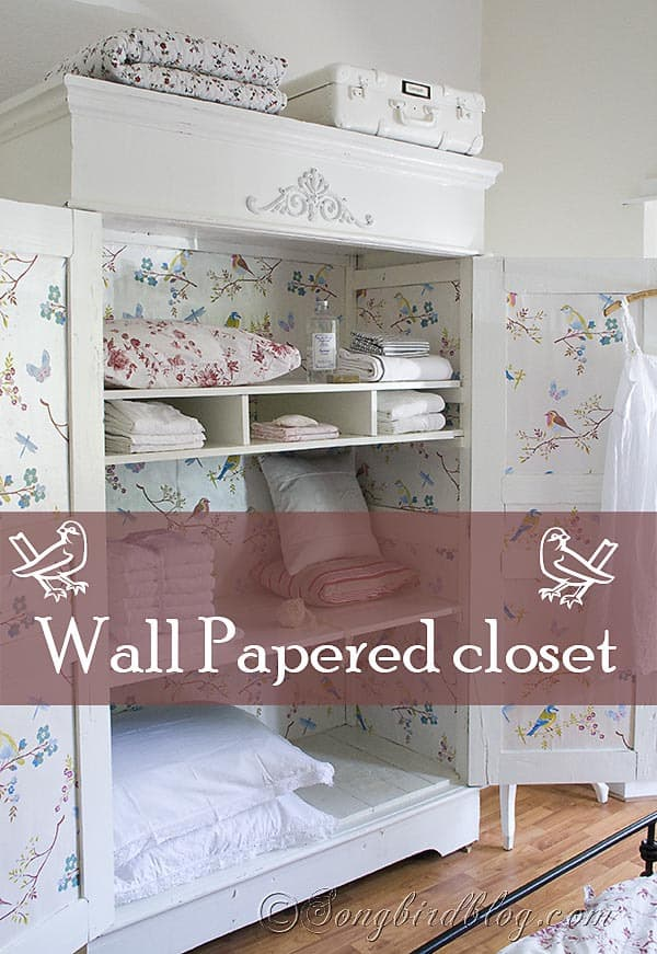 Closet Makeover With Wallpaper Songbirdblog