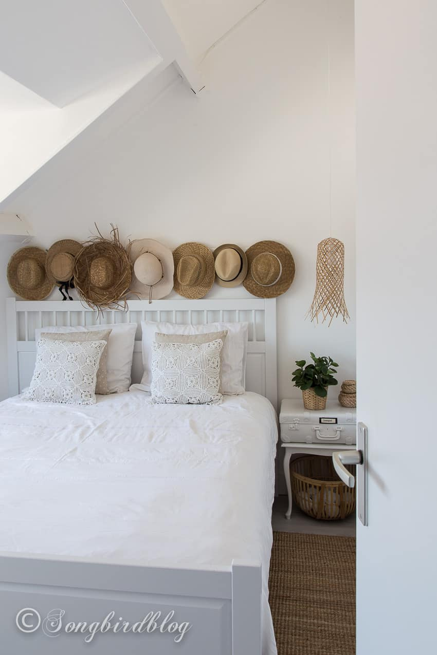 white boho bedroom