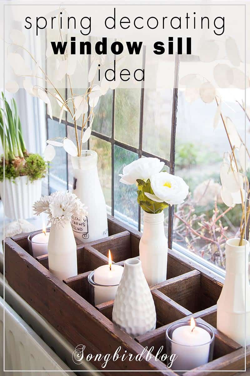 How to decorate your window sill for Spring