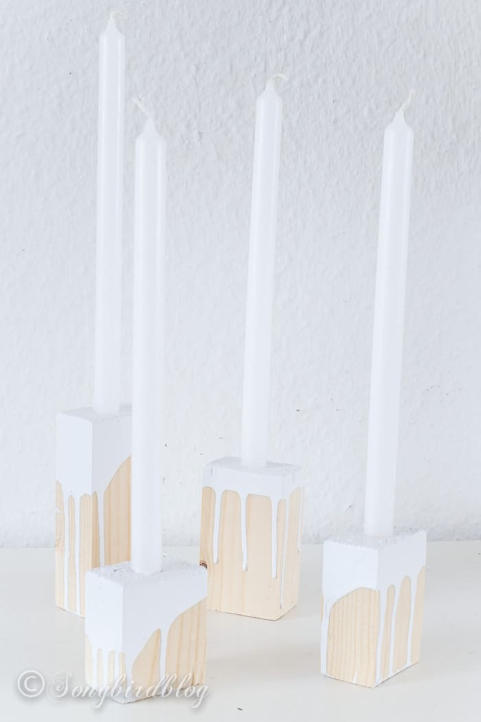 wood blox candle sticks-3