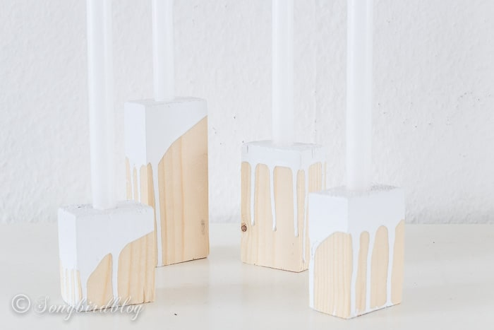 wood blox candle sticks