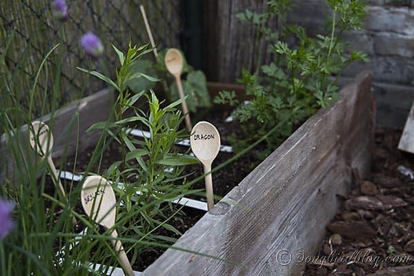wooden garden markers spoons  via Songbirdblog