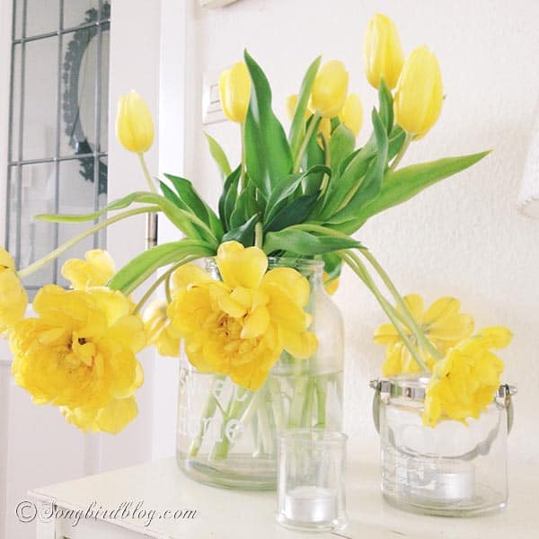 yellow tulips bouquet  www.songbirdblog.com